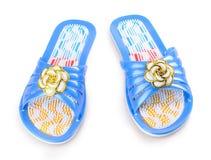 Pares de sandália azul da massagem Fotos de Stock Royalty Free