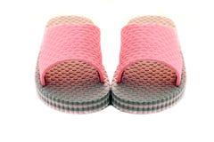Pares de sandalias rosadas Fotografía de archivo