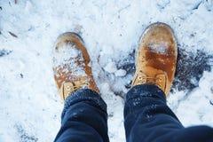 Pares de sapatas do inverno Fotos de Stock