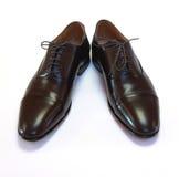 Pares de sapatas marrons do homem Fotografia de Stock Royalty Free