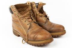 Pares de sapatas velhas imagem de stock