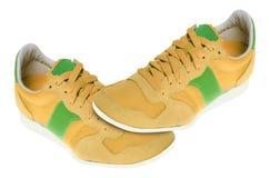 Pares de sapatilhas novas fotografia de stock