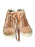 Pares de sapatos de ginástica na moda isolados no fundo branco Imagem de Stock