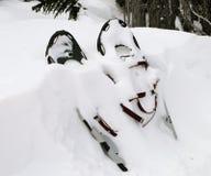 Pares de sapatos de neve Fotografia de Stock