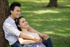 Pares de Serene Vietnamese imagem de stock