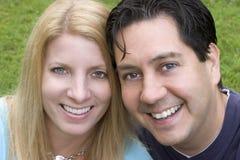 Pares de sorriso Foto de Stock Royalty Free