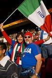 Pares de suportes do futebol de Italy - WC 2010 de FIFA Imagem de Stock