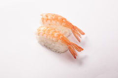 Pares de sushi de Ebi (camarón) Imagenes de archivo