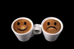 Pares de tazas de café Fotos de archivo