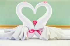 Pares de toalha Imagens de Stock