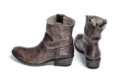 Pares de tono retro tradicional de las botas de vaquero Fotos de archivo libres de regalías