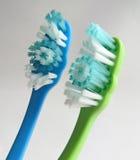 Pares de toothbrushes Imagens de Stock