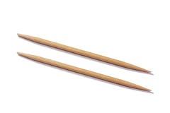 Pares de Toothpicks Imágenes de archivo libres de regalías