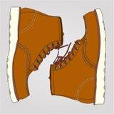 Pares de trabalho das botas Imagem de Stock