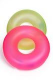 Pares de tubos redondos inflables de la piscina Fotografía de archivo libre de regalías