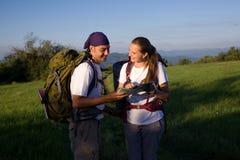 pares de turistas Imagens de Stock
