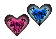 Pares de Valentine Heart Foto de archivo