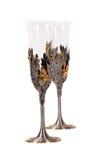 Pares de vidros de vinho decorativos Imagens de Stock