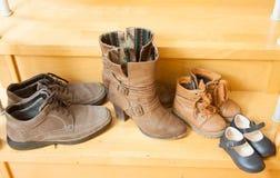 Pares de zapatos Fotografía de archivo