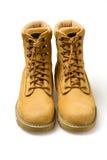 Pares de zapatos amarillos del nubuck Foto de archivo libre de regalías
