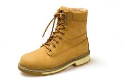 Pares de zapatos amarillos del nubuck Fotografía de archivo