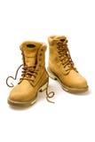 Pares de zapatos amarillos del nubuck Foto de archivo