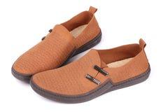 Pares de zapatos casuales masculinos Foto de archivo libre de regalías