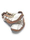Pares de zapatos de cuero marrones Fotos de archivo libres de regalías