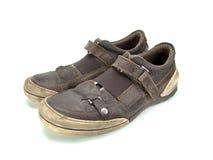 Pares de zapatos de cuero marrones Imágenes de archivo libres de regalías
