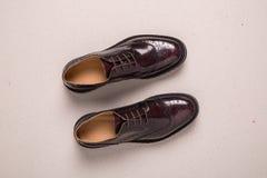Pares de zapatos de las abarcas del hombre Foto de archivo libre de regalías