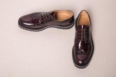 Pares de zapatos de las abarcas del hombre Imagen de archivo