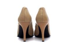 Pares de zapatos femeninos Fotos de archivo