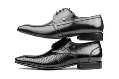 Pares de zapatos masculinos Imagen de archivo libre de regalías
