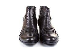 Pares de zapatos negros femeninos Fotografía de archivo libre de regalías