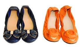 2 pares de zapatos planos Imagen de archivo