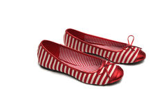 Pares de zapatos rojos Foto de archivo
