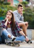 Pares del adolescente que tienen una discusión Fotografía de archivo