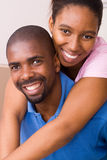 Pares del afroamericano Imagen de archivo libre de regalías