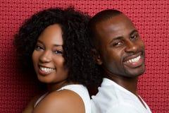Pares del afroamericano foto de archivo