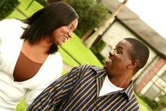 Pares del afroamericano con H imágenes de archivo libres de regalías