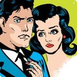 Pares del amor del hombre y de la mujer Foto de archivo libre de regalías