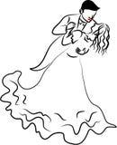 Pares del baile ilustración del vector
