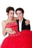 Pares del baile de fin de curso Imagen de archivo libre de regalías