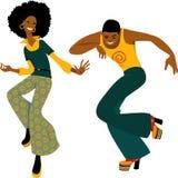 Pares del baile del disco Imagen de archivo libre de regalías