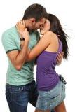 Pares del baile en amor Imagen de archivo libre de regalías