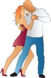 Pares del baile en color Imagen de archivo libre de regalías