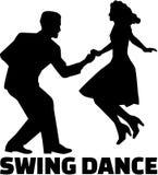 Pares del baile del oscilación libre illustration