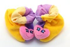 Pares del bebé bonito de primeros zapatos Fotografía de archivo libre de regalías