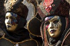 Pares del carnaval de Venecia imagenes de archivo