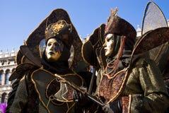 Pares del carnaval de Venecia imágenes de archivo libres de regalías
